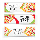 Abstract colorful headers or banners set. — Stock Vector