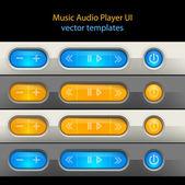 Media player control elements. — Stock Vector