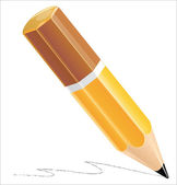 Pencil isolated on white background — Stock Vector