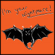 "Stock Vector: Bat ""Happy Halloween"" card"