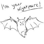 万圣节背景-飞行蝙蝠 — 图库矢量图片