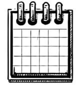 Simple paper office supplies note pad spiral bound — Vetorial Stock