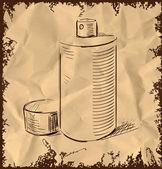 Graffiti spray sketch cartoon icon — Stock Vector