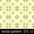 Yellow and black geometric figures seamless pattern scrapbook paper set — Векторная иллюстрация