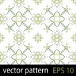 Green geometric figures seamless pattern scrapbook paper set — Imagen vectorial
