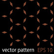 Brown and black geometric figures seamless pattern scrapbook paper set — Imagens vectoriais em stock