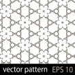 Black and brown geometric figures seamless pattern scrapbook paper set - Stock Vector