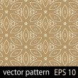 Brown geometric figures seamless pattern scrapbook paper set — Stock Vector