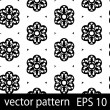 Black and white geometric figures seamless pattern scrapbook paper set - Stock Vector