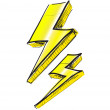 Stock Vector: Lightning bolt vector illustration