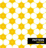 Yellow and orange geometric figures seamless pattern scrapbook paper set — Stock Vector