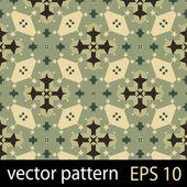 Green geometric figures seamless pattern scrapbook paper set — Stock Vector