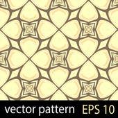 Yellow and orange geometric figures seamless pattern scrapbook paper set — Stock Vector