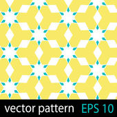 Yellow and blue geometric figures seamless pattern scrapbook paper set — Stock Vector