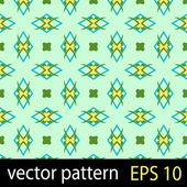Yellow and green geometric figures seamless pattern scrapbook paper set — Stock Vector