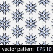 Grey, blue and black geometric figures seamless pattern scrapbook paper set — Stock Vector