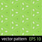 Patrón de figuras geométricas verdes transparente sistema de papel de scrapbook — Vector de stock