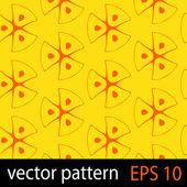 Orange and yellow geometric figures seamless pattern scrapbook paper set — Stock Vector
