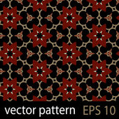 Grey, red and black geometric figures seamless pattern scrapbook paper set — Vettoriale Stock