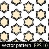 Grey and cream geometric figures seamless pattern scrapbook paper set — Stock Vector