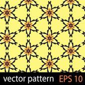 Yellow and black geometric figures seamless pattern scrapbook paper set — Stock Vector
