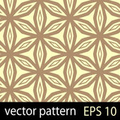 Brown and yellow geometric figures seamless pattern scrapbook paper set — Stok Vektör