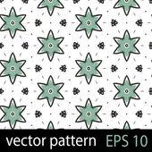 Blauwe geometrische figuren naadloze patroon scrapbook papier set — Stockvector