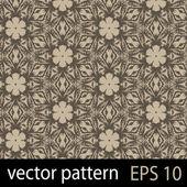Patrón de figuras geométricas marrón transparente sistema de papel de scrapbook — Vector de stock