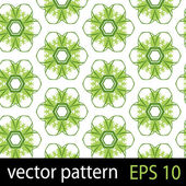 Green geometric figures seamless pattern scrapbook paper set — Vector de stock