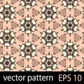 Brown geometric figures seamless pattern scrapbook paper set — Stock vektor