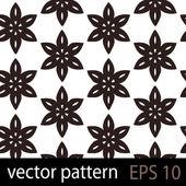 Brown geometric figures seamless pattern scrapbook paper set — Stock Vector
