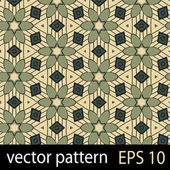 Green geometric figures seamless pattern scrapbook paper set — Stok Vektör