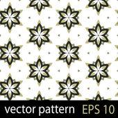Green and black geometric figures seamless pattern scrapbook paper set — Stock Vector