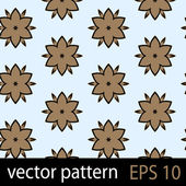 Brown and blue geometric figures seamless pattern scrapbook paper set — Stock Vector