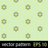 Green geometric figures seamless pattern scrapbook paper set — Stock Vector