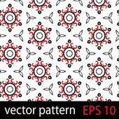 Grey, red and black geometric figures seamless pattern scrapbook paper set — Stock Vector