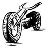 Motorcycle vector illustration — Stock Vector