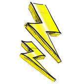 Lightning bolt vector illustration — Stock Vector
