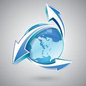 Earth update — Stock Vector