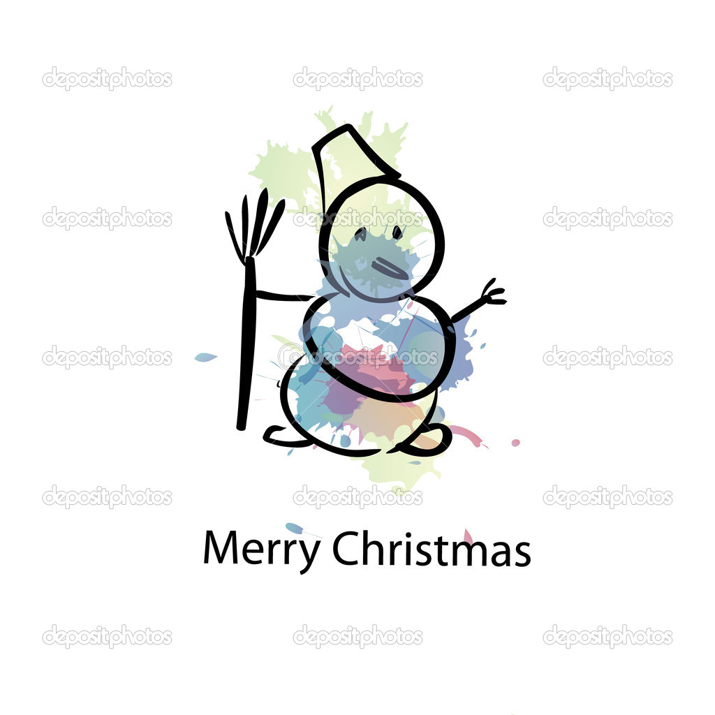 Snowman  Stock Vector #14193785