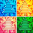 Royalty-Free Stock Vektorov obrzek: Christmas tree new year holiday background different color vector illustration