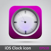 Clock glossy icon — Stock Vector