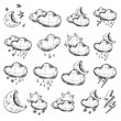 Weather icons collection — Stockvektor