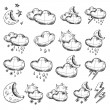 Stock Vector: Weather icons collection