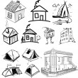 Royalty-Free Stock Vector Image: Collection of home apartments
