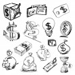 Royalty-Free Stock Vector Image: Finance and money icons collection