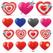 Stock Vector: Hearts collection