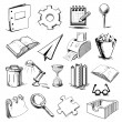 Office objects collection — Stock Vector