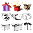 Present boxes collection — Stock Vector