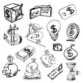 Finance and money icons collection — Stock Vector